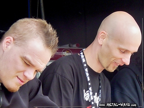 Within Temptation, Signing Session @ Wacken Open Air (Martijn Spierenburg, Robert Westerholt)