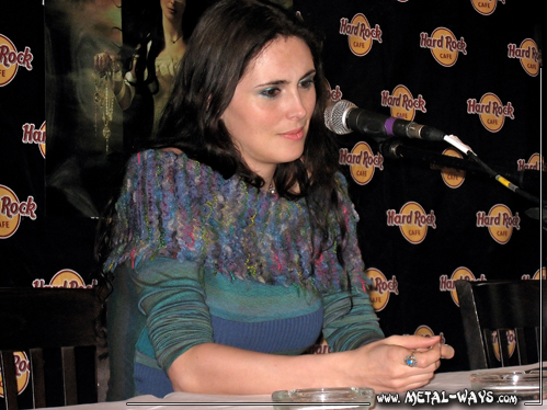 Within Temptation, Press Conference (Sharon Den Adel)